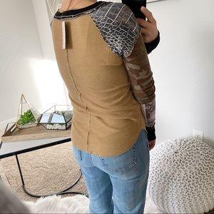 Free People Tops - NWT Free People Long Sleeve Patterned Thermal Top